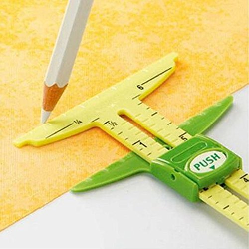 YEQIN 5-in-1 Sliding Gauge Measuring Sewing Tool
