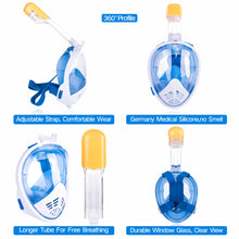 Load image into Gallery viewer, Diving mask Diving Equipment Diving Cover Full Dry Snorkel Swimming mask