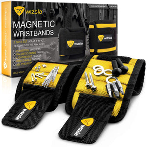 Magnetic Wristband for Holding Screws, Tools, Set of 2 Sizes