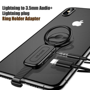 (Buy 2 FREE Shipping)Dual-Not bending Lightning Adapter for iPhone-Fast Charge
