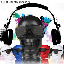 Load image into Gallery viewer, Skeleton Skull Wireless Bluetooth Speaker 15W FM Radio Stereo NFC Column Subwoofer Speakers Portables Super Heavy Bass TF Card