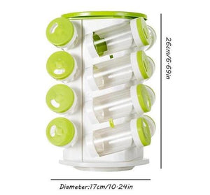 16-In-1 Revolving Spice Rack