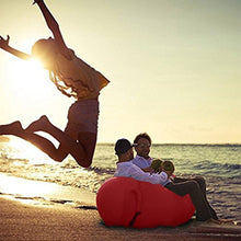 Load image into Gallery viewer, Outdoor Lazy Pocket Portable Air Fast Inflatable Sofa Bed Inflatable Cushion Lunch Break Beach Sleeping Bag