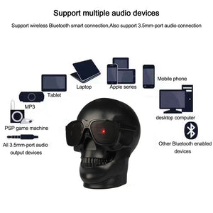 Skeleton Skull Wireless Bluetooth Speaker 15W FM Radio Stereo NFC Column Subwoofer Speakers Portables Super Heavy Bass TF Card