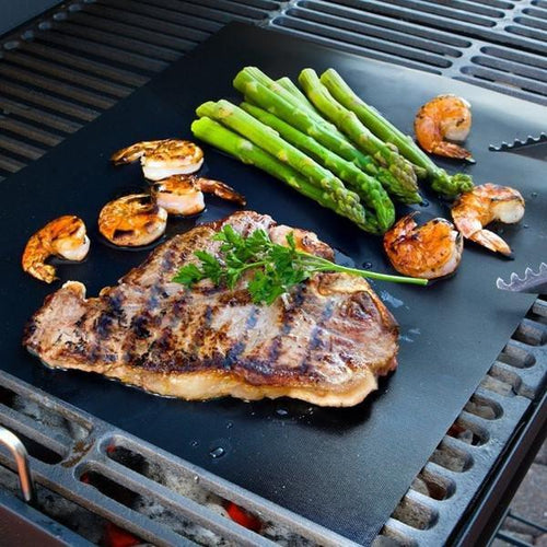 5 pcs Barbecue Grill Mat - Non Stick, Reusable, and Easy to Clean Barbecue Grilling Accessories