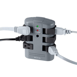 Pivot-Plug Power Strip Surge Protector with 6-Foot Power Cord and Telephone Protection