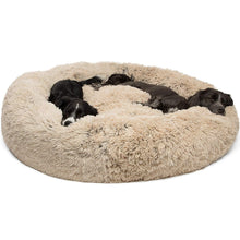 Load image into Gallery viewer, Best Friends by  Luxury Shag Fuax Fur Donut Cuddler (Multiple Sizes)