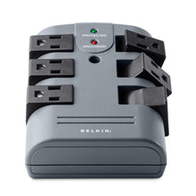 Load image into Gallery viewer, Pivot-Plug Power Strip Surge Protector with 6-Foot Power Cord and Telephone Protection