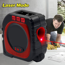 Load image into Gallery viewer, 3 in 1 Measuring Tape With Roll Cord Mode High Accuracy Laser Digital Tape High Impact Professional Measuring Tool