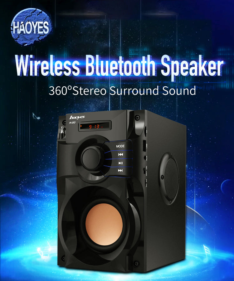 2019 The Best Bluetooth Speaker Subwoofer Supper Bass Wireless Speakers Dancing Boombox