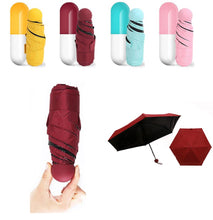 Load image into Gallery viewer, Sale fashion portable mini capsule pocket UV protection rain folding Ms. compact small capsule umbrellas