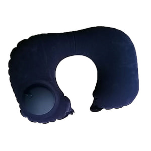 U-Shape Inflatable Travel Pillow Folding Automatic Neck Pillow Car Air Inflatable Pillows Neck Cushion Travel Headrest Portable