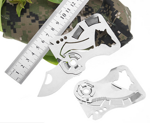Multi-function lifesaving card folding knife Outdoor credit card knife multi-function tool card knife