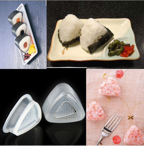LIMITOOLS 2PCS/1 Set Sushi Mold Onigiri Rice Ball Bento Press Maker Mold DIY Tool