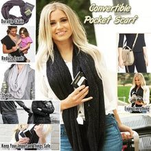 Load image into Gallery viewer, (Hot selling 50,00 items ) Multi-Use Pocket Scarf with Zippers-[70% OFF]