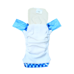 Innate Regular Fit Pocket Cloth Diaper - Building Blocks of Life | Blue