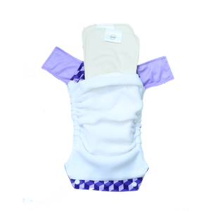 Innate Regular Fit Pocket Cloth Diaper - Building Blocks of Life | Purple