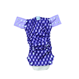 Innate AIO Cloth Diaper - Building Blocks of Life | Purple