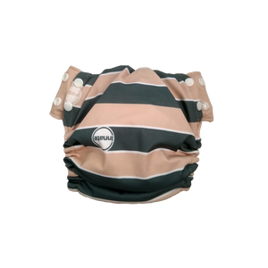 Innate Stay-dry AIO Cloth Diaper - Cream Stripes