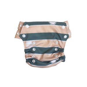 Innate AIO Cloth Diaper - Cream Stripes