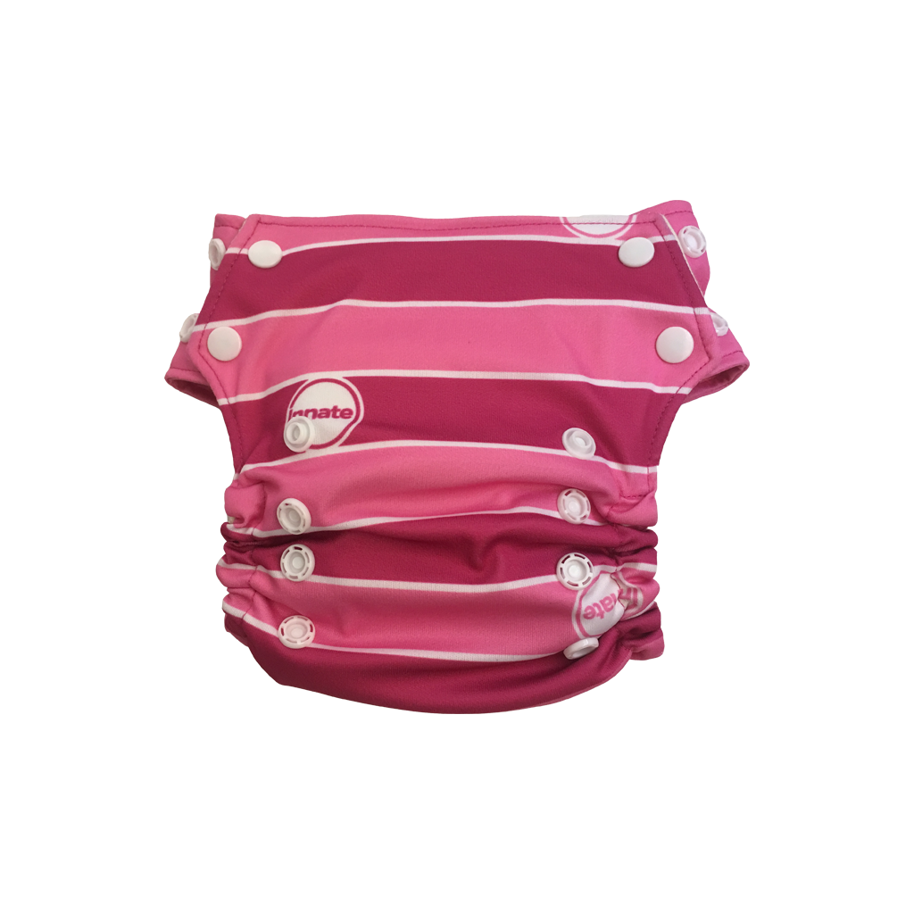 Innate Slim Fit Pocket Cloth Diaper - Pink Stripe