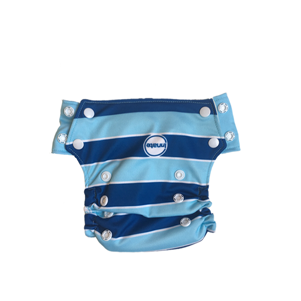 Innate Slim Fit Pocket Cloth Diaper - Blue Stripes