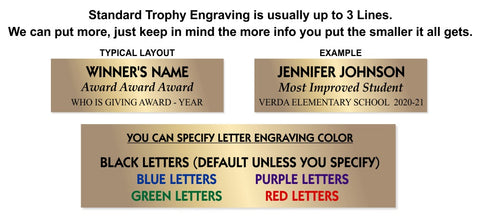 Trophy Plate Engraving Color options