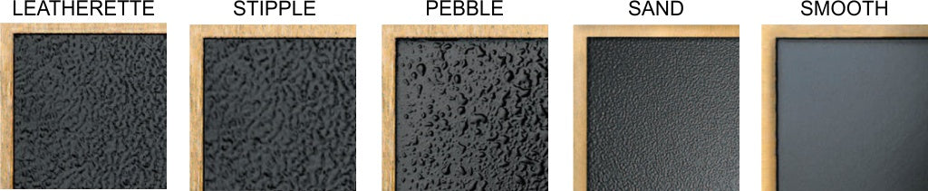 Cast Metal Plaque Background Textures - Leatherette, Stipple, Pebble, sand and smooth