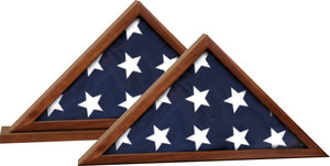 Genuine Walnut Flag Cases | For 5' x 9-1/2' Flags