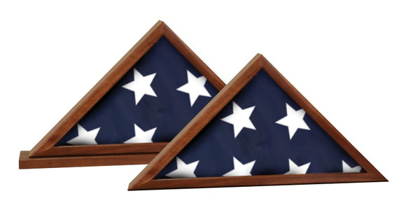 Genuine Walnut Flag Cases | For 3' x 5' Flags