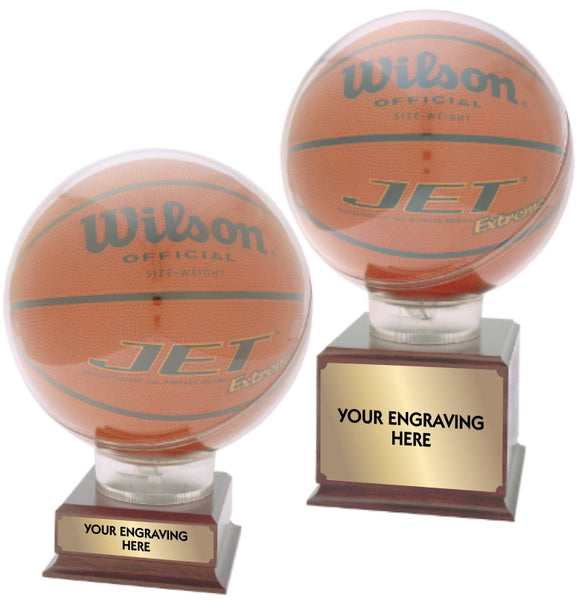 Basketball Clear Globe Display Case on Trophies | 2 SIZES