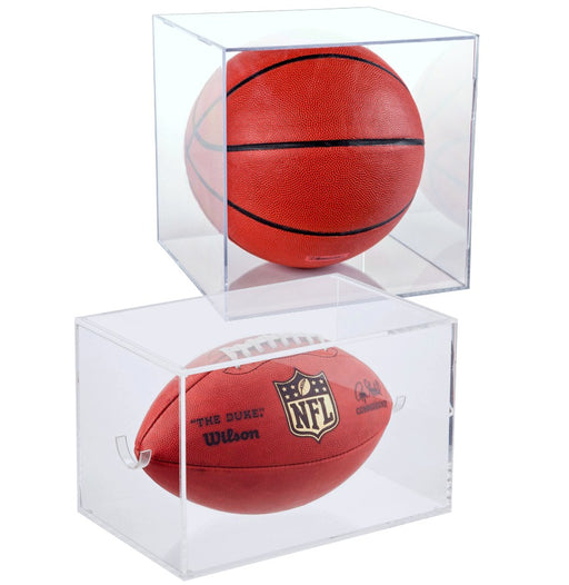BallQube Clear Display Cases for Larger Sport Items Basketball, soccer ball, football