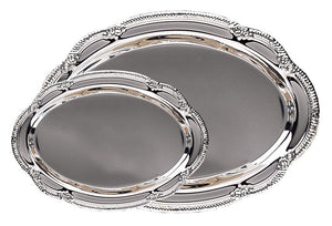 Engravable Silver Plated Oval Award Tray | 2 SIZES