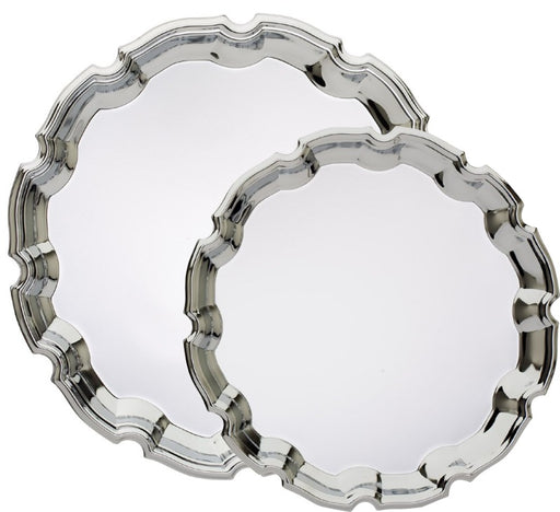 Engravable Silver Wave Chrome Plated Award Tray | 2 SIZES