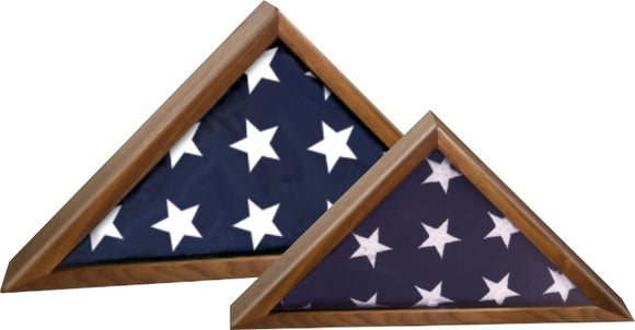 Walnut High Gloss Piano Finish Flag Cases | For 3' x 5' and 5' x 9-1/2' Flags
