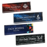 "LA Trophies - 1"" Thick Marble Acrylic Name Bars 