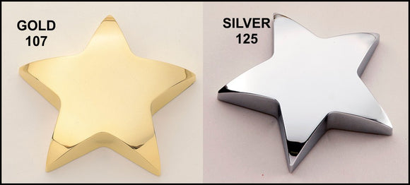 Airflyte Polished Metal Star paperweights