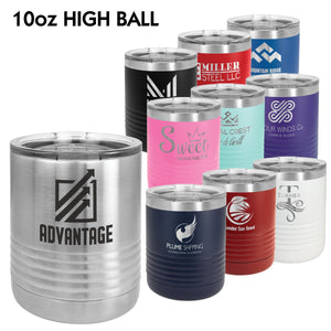 10 oz. Polar Camel High Ball Style Tumblers | 10 COLORS