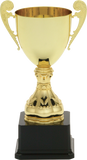 GreyStone - Tuscany Metal Cup Trophies on Black Plastic Base | 2 COLORS | 3 SIZES