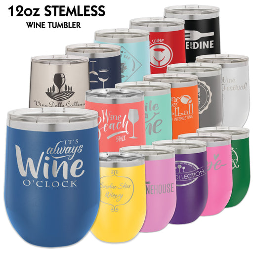 12 oz. Polar Camel Wine Glass Tumblers | 15 COLORS