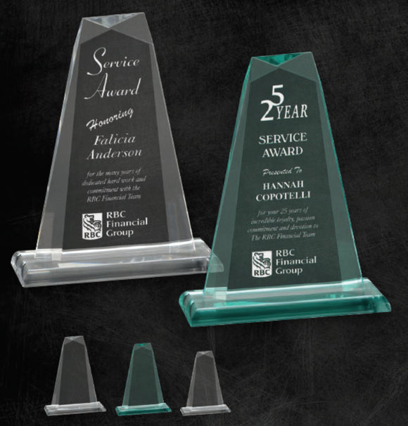 GreyStone Pinnacle Style Acrylic on smooth edge acrylic base | 2 COLORS | 3 SIZES