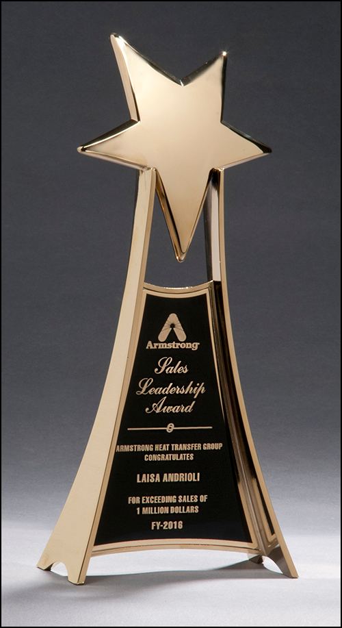 Airflyte Impressive Gold Metal Star Trophy
