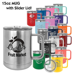 15 oz. Polar Camel Insulated Mug with Slider Lid | 17 COLORS