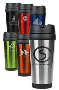 16 oz. Stainless Steel Travel Mugs | 6 Colors Available
