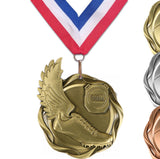 "3"" Fusion Award Medals on 1-1/2"" Wide Neck Ribbons 