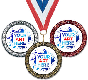 "2"" XR Series Insert Medals on 7/8"" Neck Ribbons 