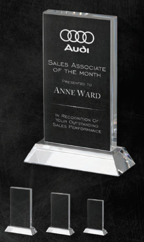 GreyStone Sanford Style Crystal Award | 3 SIZES
