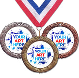 "3"" XR Series Insert Medals on 1-1/2"" Wide Neck Ribbons 