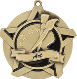 "2-1/4"" Super Star Series Award Art Medals on 7/8"" Neck Ribbons"