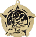 "2-1/4"" Super Star Series Spelling Bee Award Medals on 7/8"" Neck Ribbons"